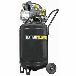 21 Gallon 125 Psi Cast Iron Vertical Air Compressor 2 5 Hp M Portable