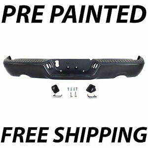 New Painted To Match Rear Step Bumper Assembly For 2009 2018 Dodge Ram 1500