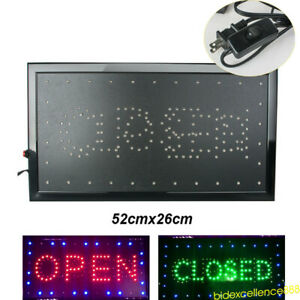 2 In1 Bright Led Open closed Store Shop Bar Flashing Business Sign Display Neon