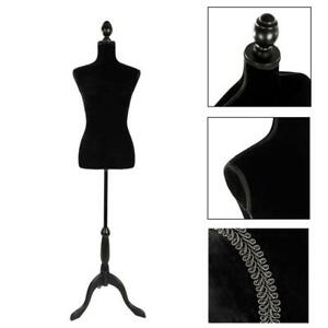 Female Mannequin Torso Dress Clothes Form Display W Black For Showing Clothes