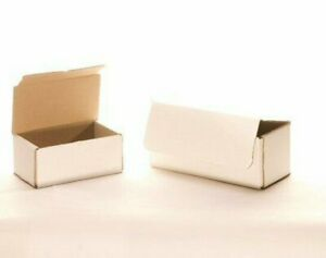 50 8 X 6 X 2 White Corrugated Mailers Die Cut Tuck Flap Boxes Free Shipping