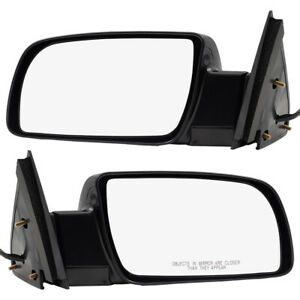New Pair Set Power Side Mirror Glass Housing Plastic Base Gmc Chevy Pickup Truck