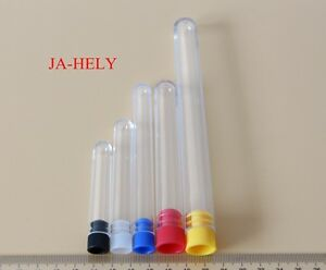1000pcs 12 60 12 75 13 100 16 100 16 150mm Ps Plastic Test Tube With Stopper Cap