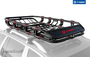Tyger Extendable Roof Mounted Cargo Basket Luggage Carrier Rack Super Duty