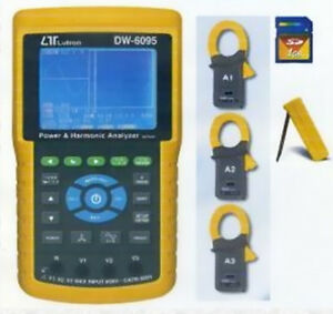 Dw 6095 3 Phase Power Analyzer Sd Card Real Time Data Recorder W harmonic Tester