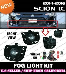 Complete Fog Light Kit For Scion 14 15 16 Tc W Switch Wiring Covers