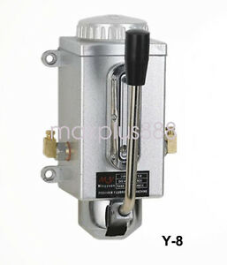 Y 8 Lubricating Manual Pump Hand Lubrication 0 5l Cnc Double Outlet Port 6mm