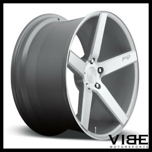 19 Niche Milan Silver Concave Staggered Wheels Rims Fits Acura Tl