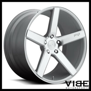 19 Niche Milan Silver Concave Wheels Rims Fits Ford Mustang Gt