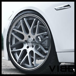 19 Vertini Magic Silver Concave Staggered Wheels Rims Fits Nissan Altima