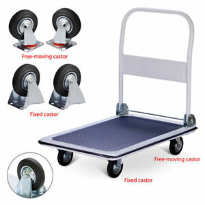 330lbs Platform Cart Dolly Folding Foldable Push Hand Truck Moving Convenient