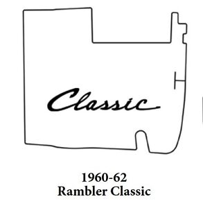 1960 1962 Amc Rambler Classic Trunk Rubber Floor Mat Cover With A 090 Rambler