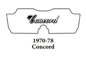 1970 1978 Amc Concord Trunk Rubber Floor Mat Cover With A 080 Concord