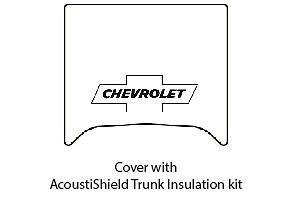 1940 1941 Chevrolet Coupe Trunk Rubber Floor Mat Cover With G 010 Chevy Bowtie