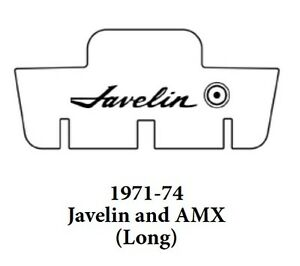 1971 1974 Amc Javelin Trunk Rubber Floor Mat Cover With A 005 Javelin
