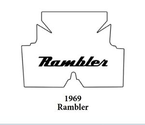 1969 Amc Rambler Trunk Rubber Floor Mat Cover With A 007 Rambler