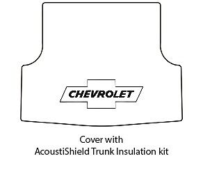 1953 54 Chevy Sw Panel Delivery Trunk Rubber Floor Mat Cover W G 010 Bowtie
