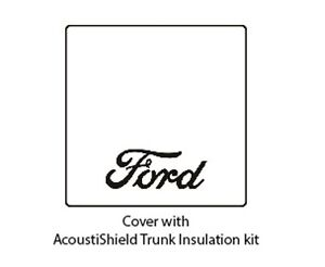 1935 1936 Ford Roadster Trunk Rubber Floor Mat Cover Kit With F 001 Ford Script