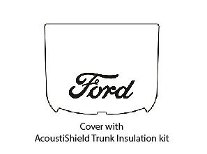 1937 1939 Ford Coupe Trunk Rubber Floor Mat Cover Kit With F 001 Ford Script