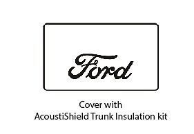 1928 1929 Ford Roadster Trunk Rubber Floor Mat Cover Kit With F 001 Ford Script