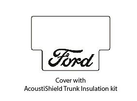 1939 1940 Ford Fordor Sdn Trunk Rubber Floor Mat Cover Kit W F 001 Ford Script