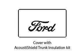 1930 1931 Ford Coupe Trunk Rubber Floor Mat Cover Kit With F 001 Ford Script