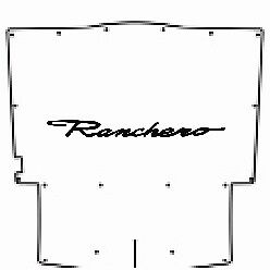 1957 Ford Under Hood Cover With F 047 Ford Ranchero