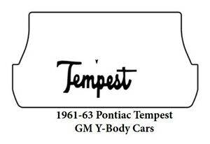 1961 1963 Pontiac Y Body Trunk Rubber Floor Mat Cover With G 071 Tempest