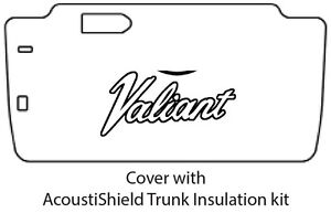 1963 1966 Plymouth Valiant Trunk Rubber Floor Mat Cover With Ma 010 Valiant