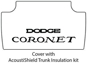 1968 1970 Dodge Coronet Trunk Rubber Floor Mat Cover With Mb 060 Coronet
