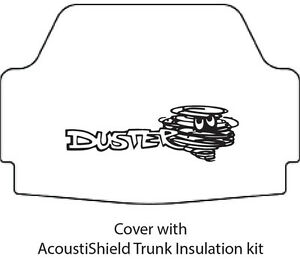 1970 1976 Plymouth Duster Trunk Rubber Floor Mat Cover With Mb 060 Duster