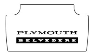 1965 1967 Plymouth Belvedere Trunk Rubber Floor Mat Cover With Mb 010 Belvedere