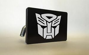 Autobots Billet Aluminum Trailer Tow Hitch Cover Suv Truck Rv Black