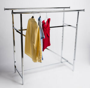 48 83 Adjustable Height Tall Double Bar H Rack Clothing Garment Clothes