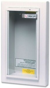 Kidde For 10 Lbs Semi recessed Fire Extinguisher Cabinet Tempered Glass Dry