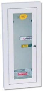 Kidde Semi recess Locked Fire Extinguisher Cabinet For 5 Lbs Units Handle