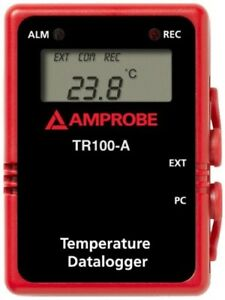 Amprobe Tr100 a Temperature Data Logger With Digital Display And Rs232 Cable