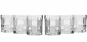 11 Oz Whisky Crystal Cut Glasses Vintage Scotch Tumblers 6 piece Set