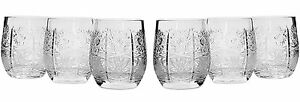 7 Oz Whisky Crystal Cut Glasses Vintage Scotch Tumblers 6 piece Set