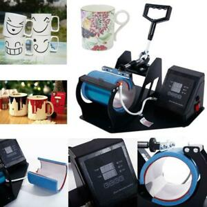 Heat Press Transfer Sublimation Machine Dual Digital For Cup Coffee Mug 11oz Hot