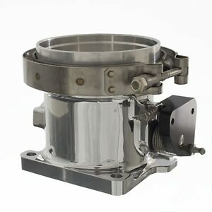 Accufab New Style 90mm Mustang 5 0l 86 93 Polished V band Throttle Body W Kit
