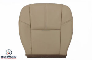 2007 2014 Chevy Suburban 1500 2500 Lt driver Side Bottom Leather Seat Cover Tan