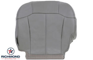 2002 Chevy Suburban 1500 2500 Ls Lt Driver Side Bottom Leather Seat Cover Gray