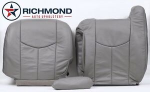 2005 Chevy Silverado driver Side Complete Replacement Leather Seat Covers Gray