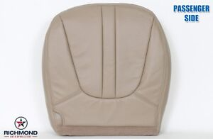 1998 Ford Expedition Eddie Bauer Passenger Side Bottom Leather Seat Cover Tan