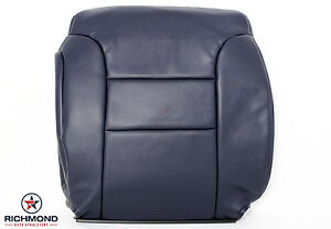 2000 Chevy Silverado K1500 C k C1500 driver Lean Back Leather Seat Cover Blue
