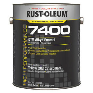 7400 Alkyd Enamel yllw old Caterpillar Rust oleum 7448402