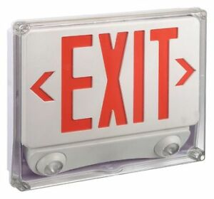 Lumapro 35gw99 Lumapro Abs Led Exit Sign With Emergency Light