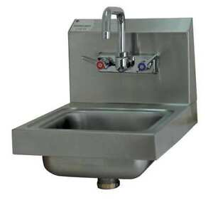 Hand Sink with Faucet 16 In L 12 In W Advance Tabco 7 ps 23