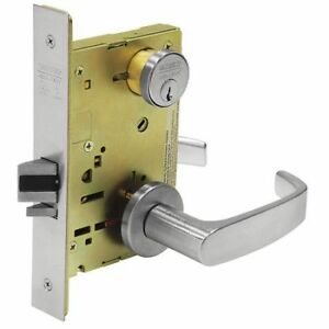 Sargent 8237 Lnl 26d Heavy Duty Mortise Lockset lever grd 1
